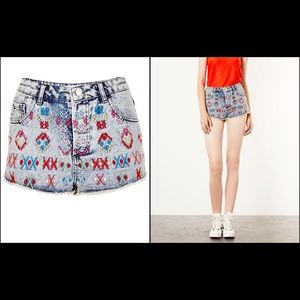 TOPSHOP MOTO cut off jean shorts